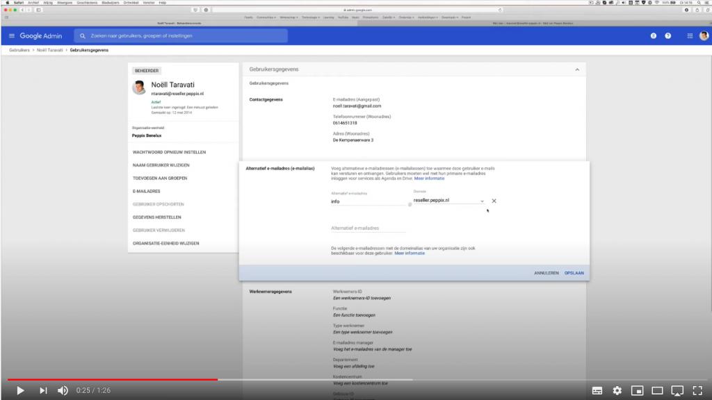 alias aanmaken gmail bij de Google Workspace Specialist